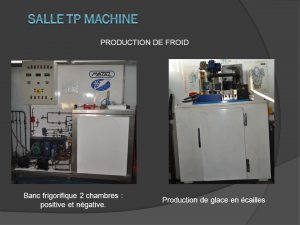 Atelier de production de froid