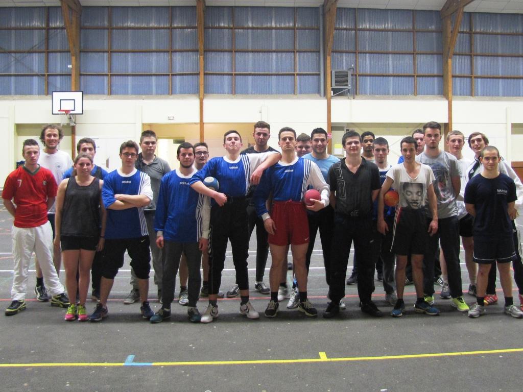 Echange sportif lycée maritime, lycée Maupertuis et Foyer des jeunes travailleurs de St Malo