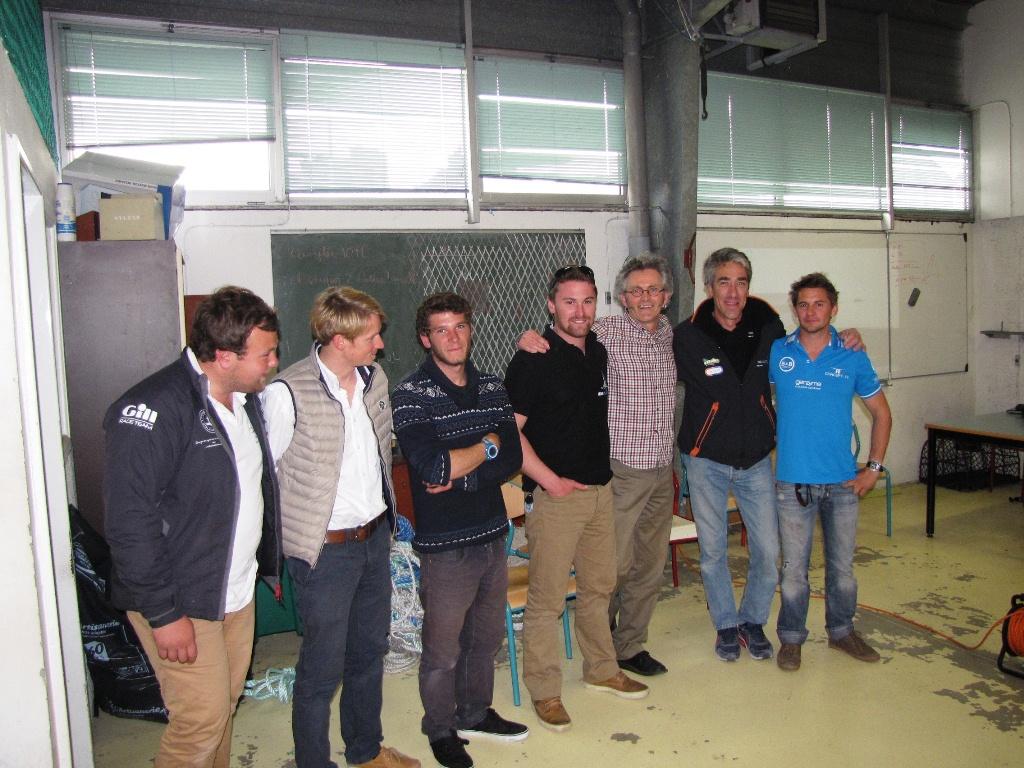 Les skippers malouins rencontrent les élèves du Lycée Public Maritime
