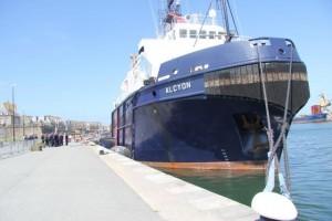 L'Alcyon à quai à St Malo