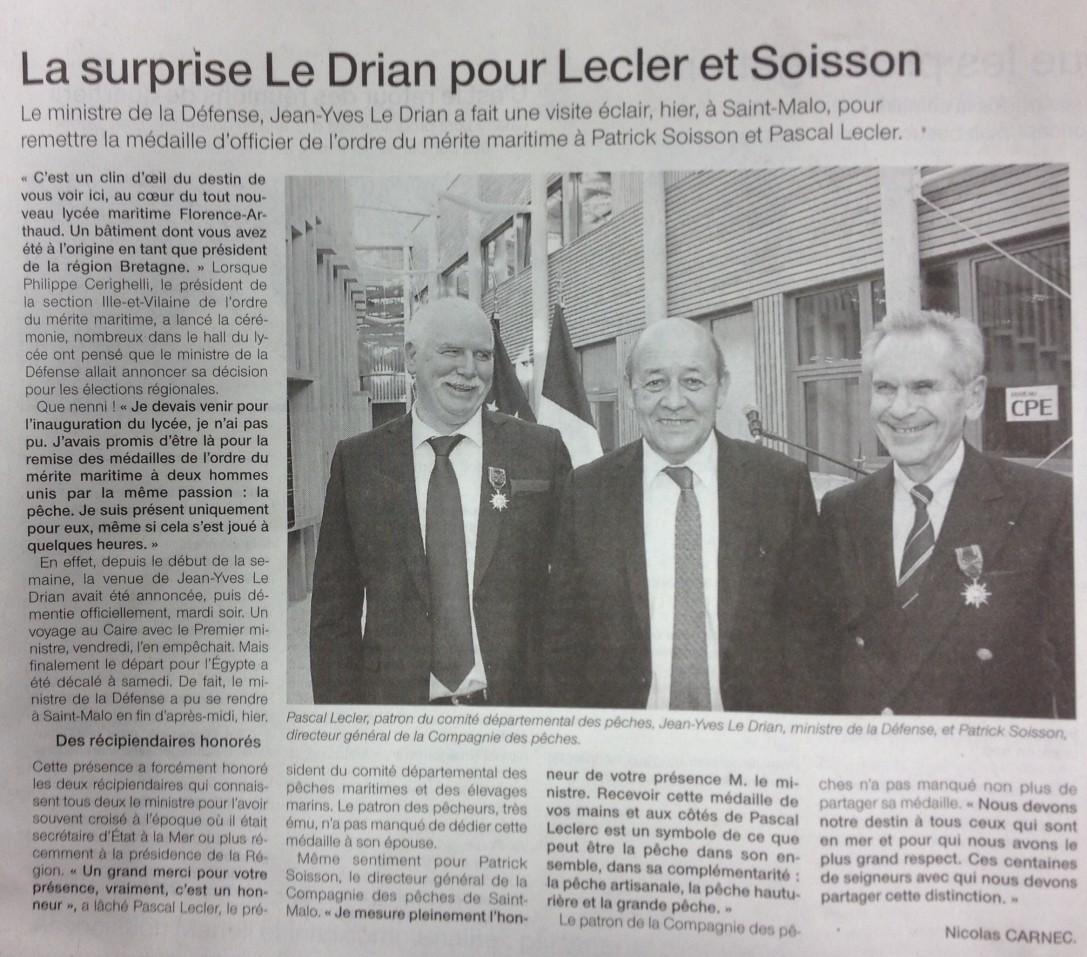 Visite de Jean Yves Le Drian