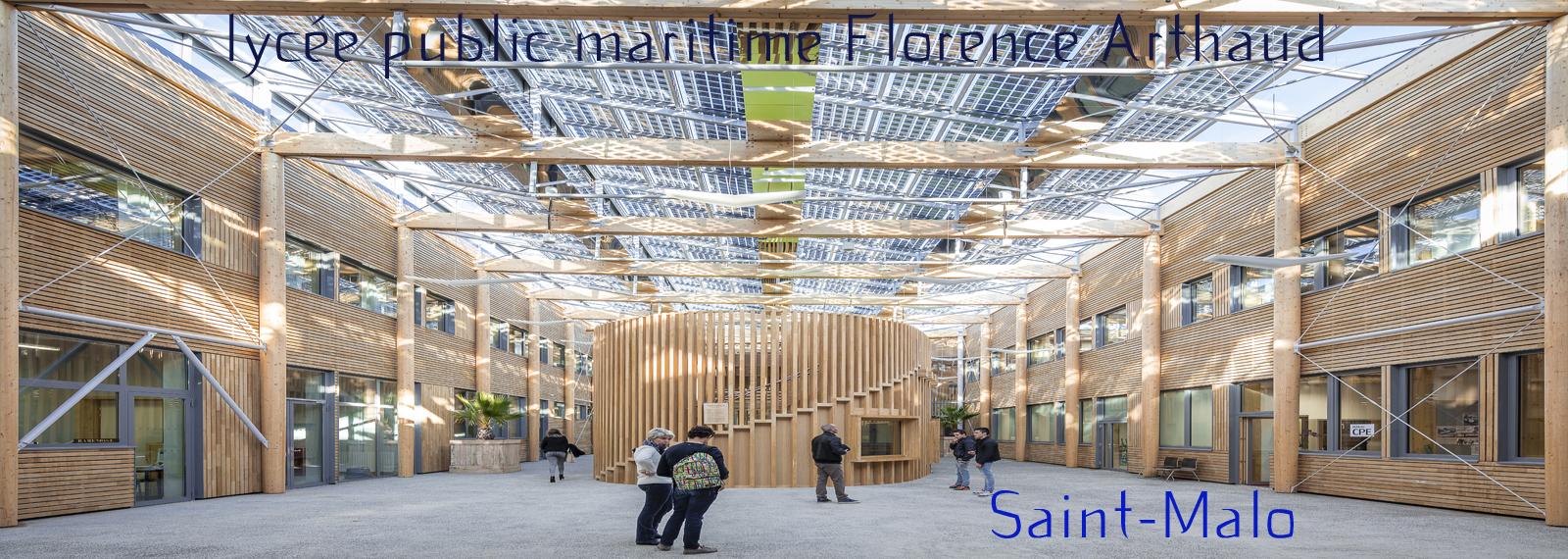 photographie du foyer des élèves dans l'atrium